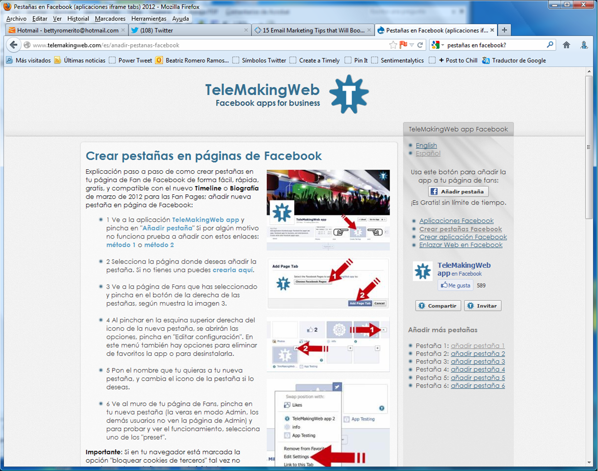 Mis tabs (pestañas) perdidas – Marketing digital